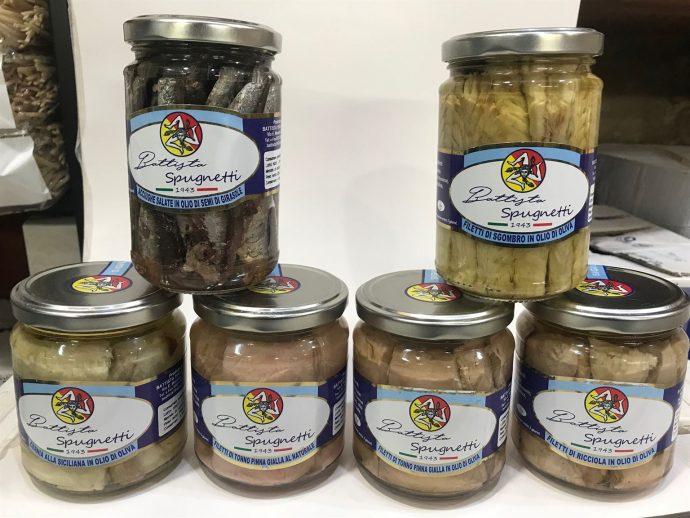 Acciughe Salate in olio di semi di girasole Gr 300